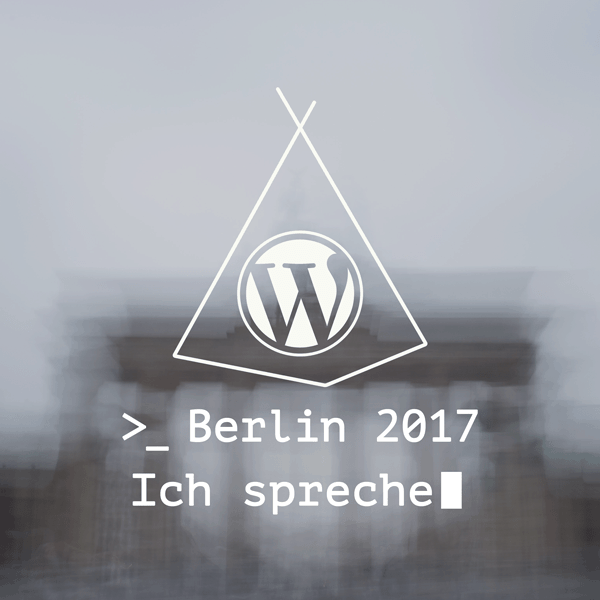 Speakerin beim WordCamp Berlin 2017