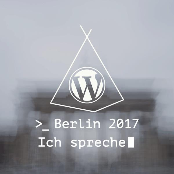 Speakerin beim WordCamp Berlin 2017