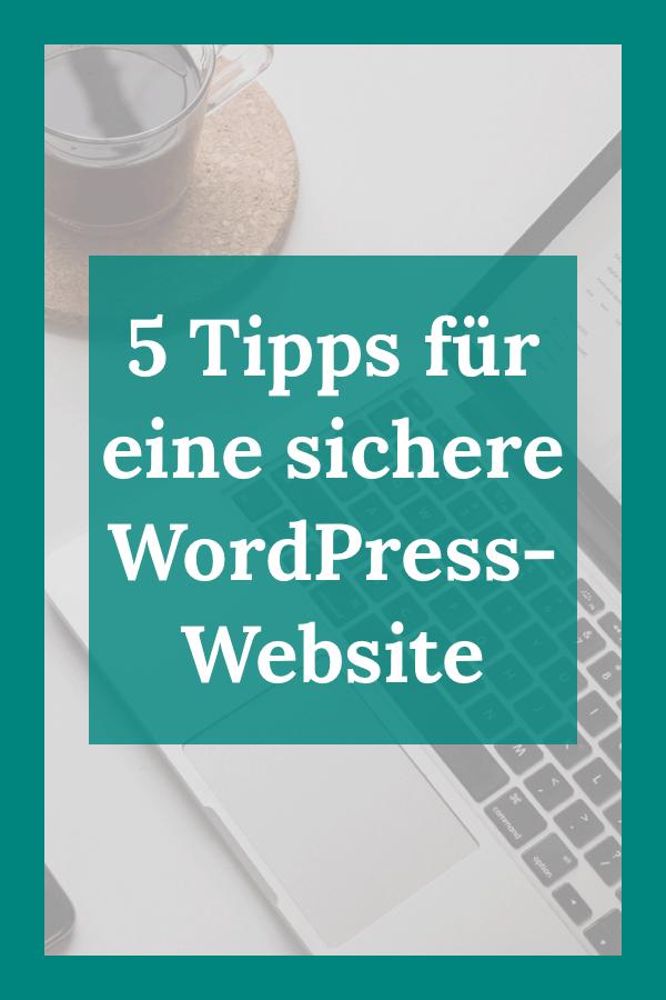 Pinterest-Bild: 5 Tipps für eine sichere WordPress-Website